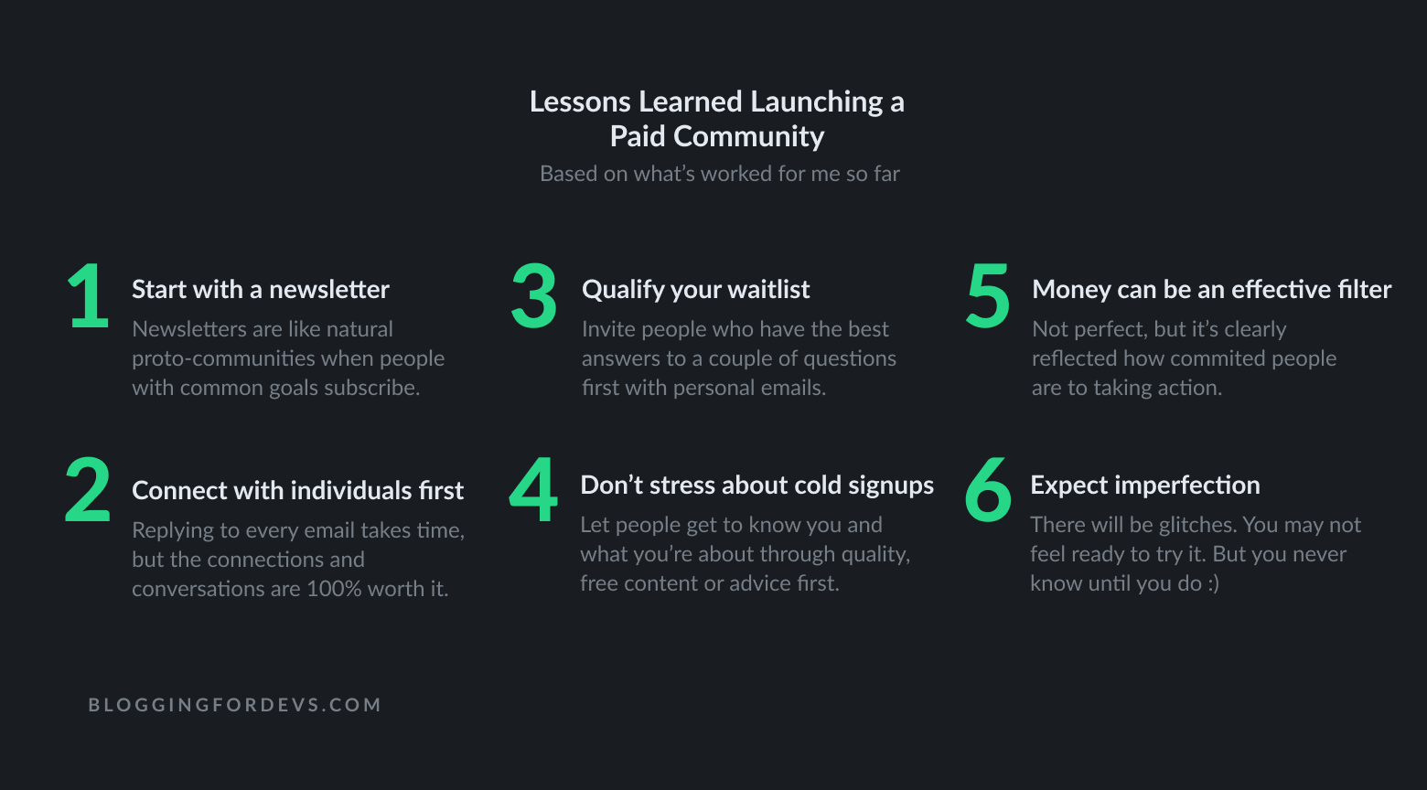 Paid Community Launch Learnings